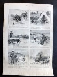 The Graphic 1897 Antique Print. An Angling Holiday in Ireland. Fishing